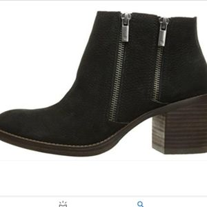 LUCKY BRAND Black Leather Ankle Bootie